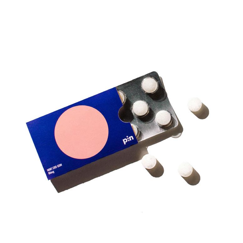 Pin Mint CBD Chewing Gum
