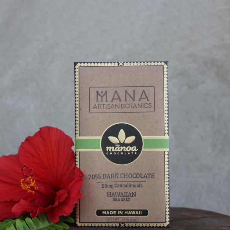 Mana Artisan Botanics Hemp Dark Chocolate Bar