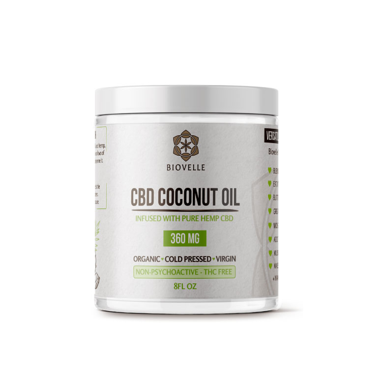 Biovelle Coconut Oil Infused with Pure Hemp CBD