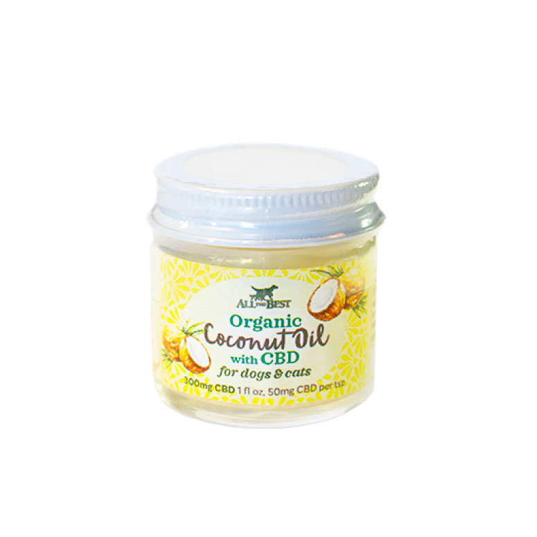 All The Best Wisely Organic Coconut Oil with CBD