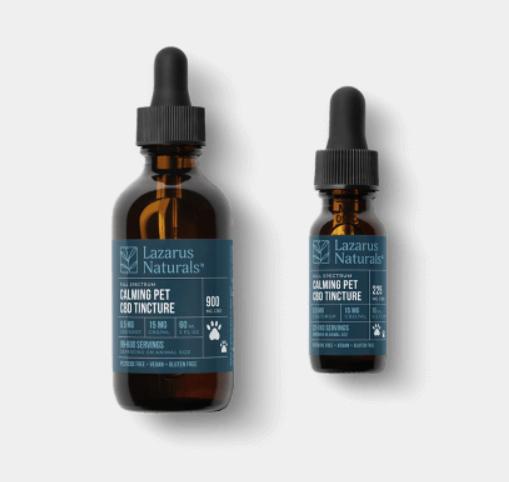 lazarus naturals cbd pet tincture oil
