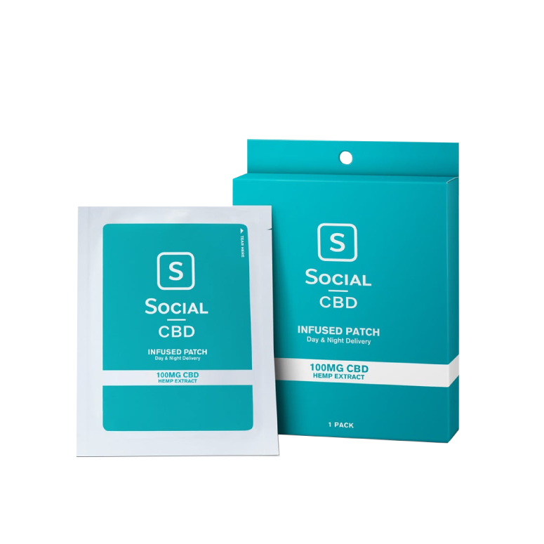Social CBD 100 mg Transdermal CBD Patch