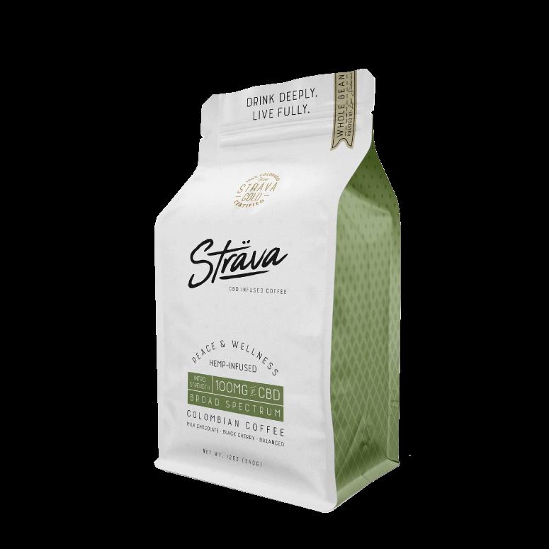 Sträva Medium-Roast Whole-Bean CBD Coffee