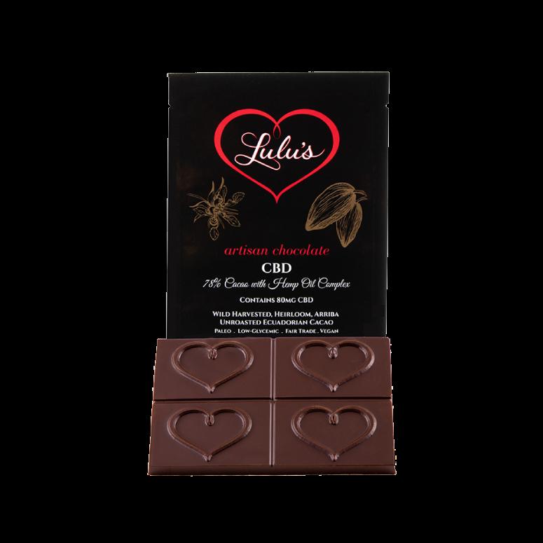 Lulu's Raw, Vegan CBD Chocolate Bar