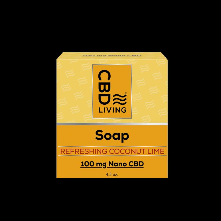 CBD Living Refreshing Coconut Lime CBD Soap