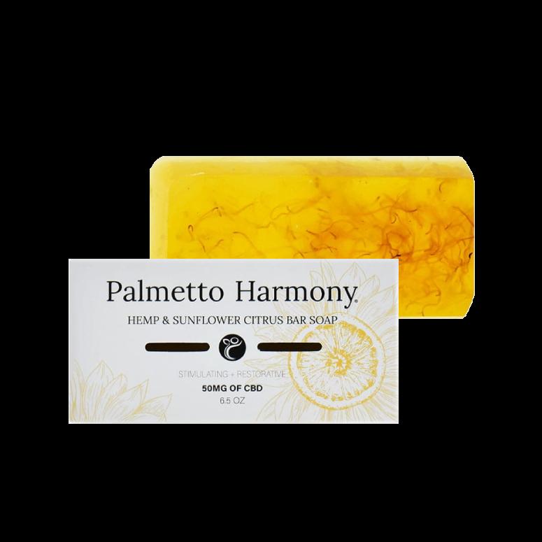 Palmetto Harmony CBD Hemp & Sunflower Citrus Bar Soap
