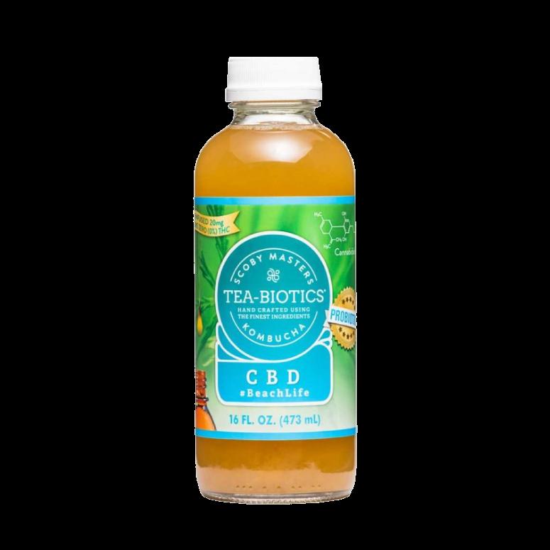 Tea Biotics CBD-Infused Blueberry Kombucha
