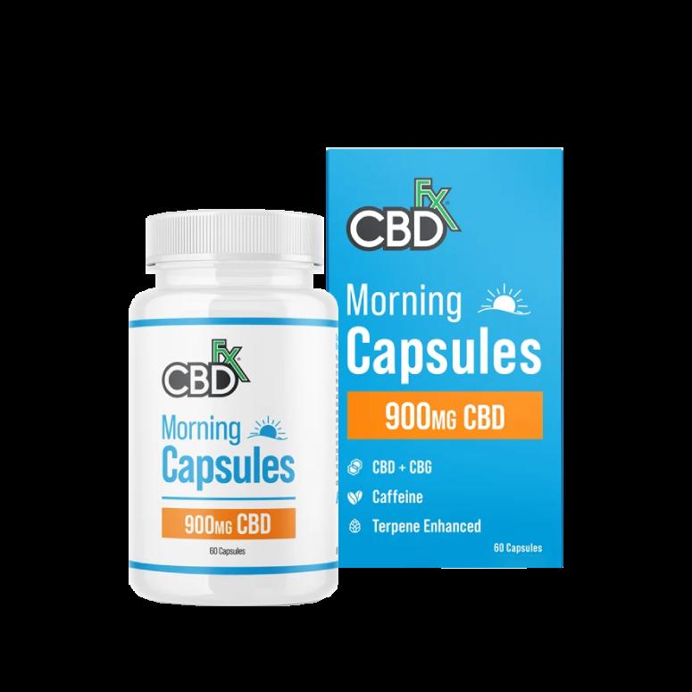 CBDfx CBD + CBG Morning Capsules