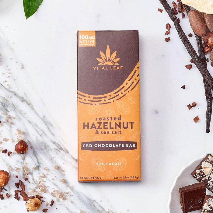Vital Leaf Hazelnut & Sea Salt CBD Chocolate Bar