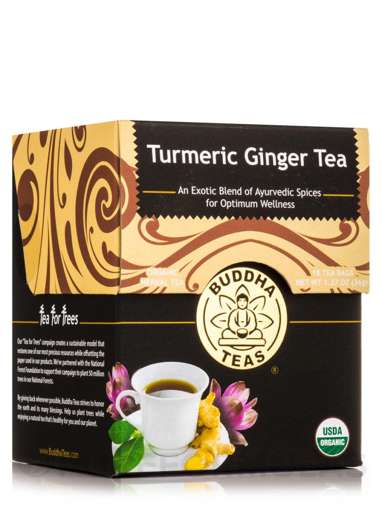 Buddha Teas CBD Turmeric and Ginger Tea