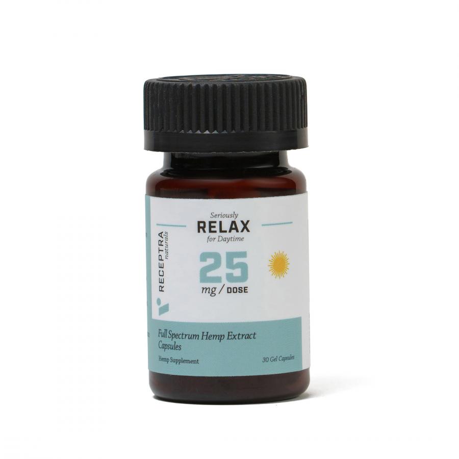 Receptra's Seriously Relax CBD Gel Capsules