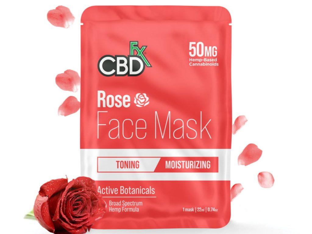 CBDfx face mask rose
